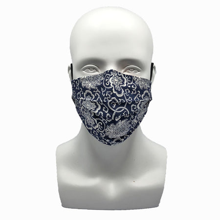 Plaid Brown Pleated Mask with Mesh Fabric Inner Layer