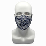 Porcelain Dark Blue Pleated Mask