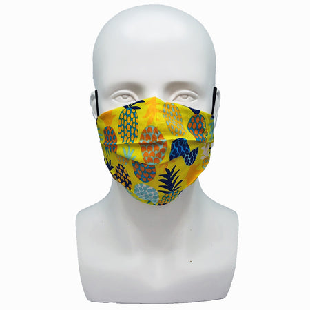 Dots Black Pleated Mask with Mesh Fabric Inner Layer
