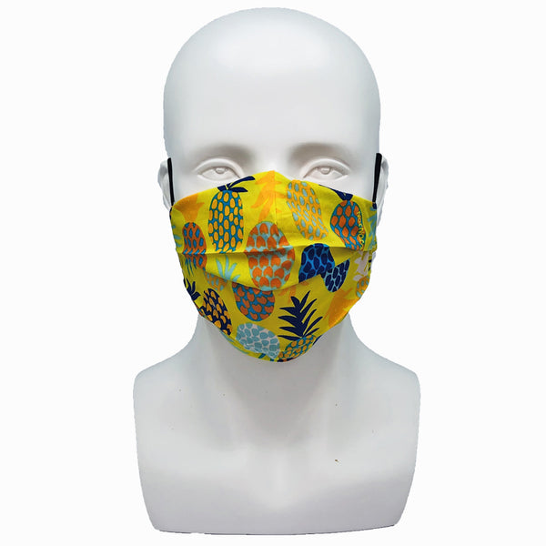 Pineapple Yellow Pleated Mask