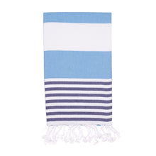 Load image into Gallery viewer, Candy Turkish Towel, Ocean Blue