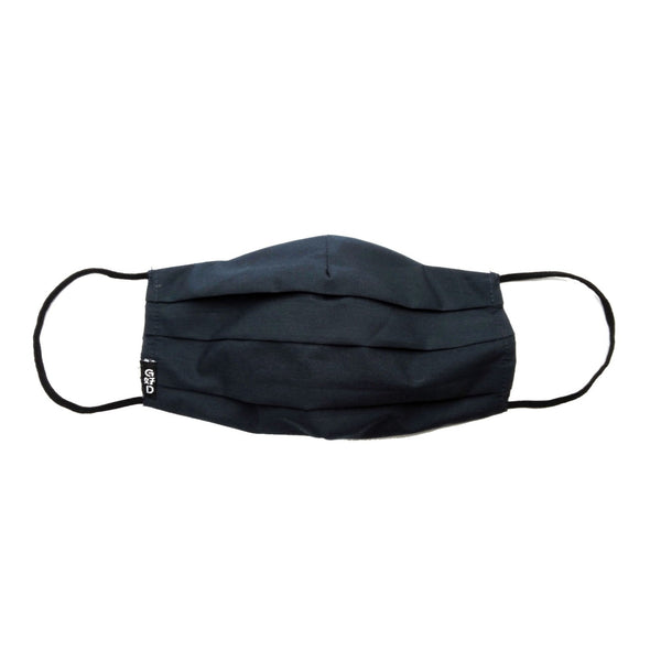 Plain Navy Cloth Mask with Holder