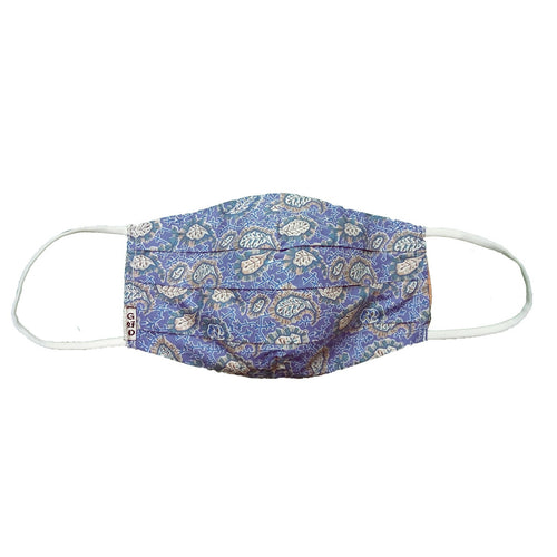 Paisley Pale Blue Mask with Holder