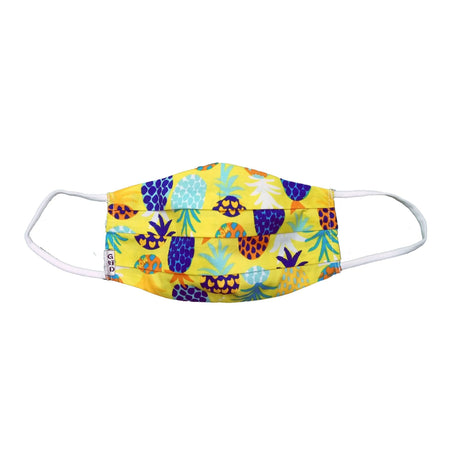 Dots Purple Cloth Mask with Holder