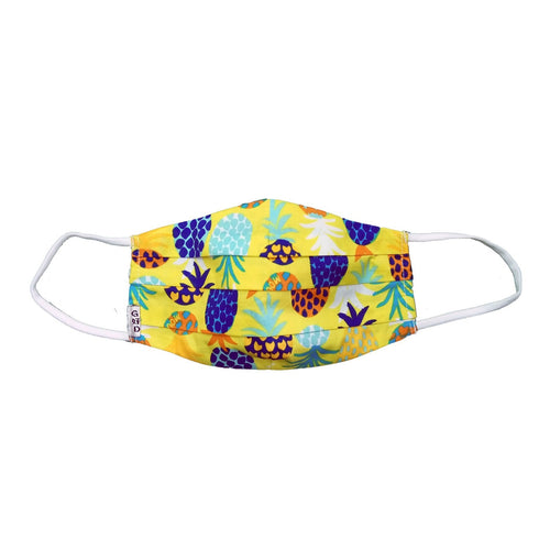 Pineapple Yellow Cloth Mask with Holder