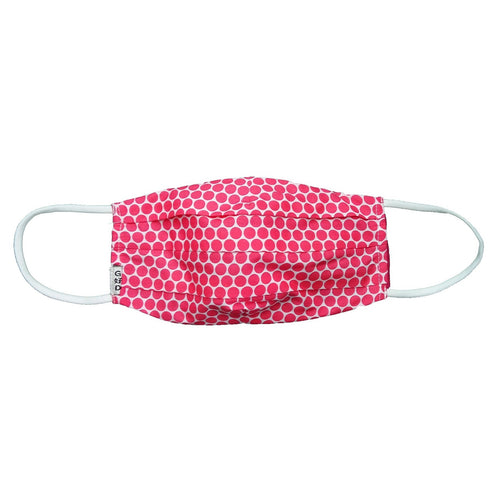 Dots Fuchsia Cloth Mask with Holder