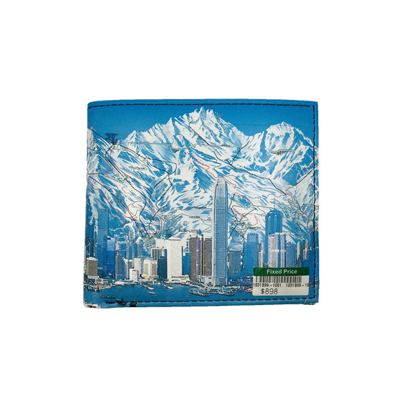 HK SKI MAP Leather Billfold Wallet