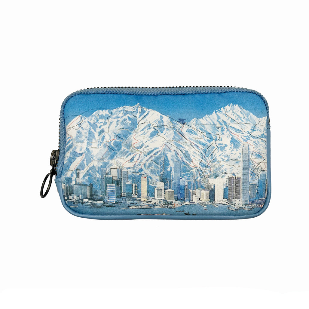HK Ski Map Leather Essential Case