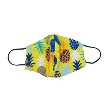 Load image into Gallery viewer, Pineapple Yellow Snouted Mask with Adjustable String (Mesh layer)