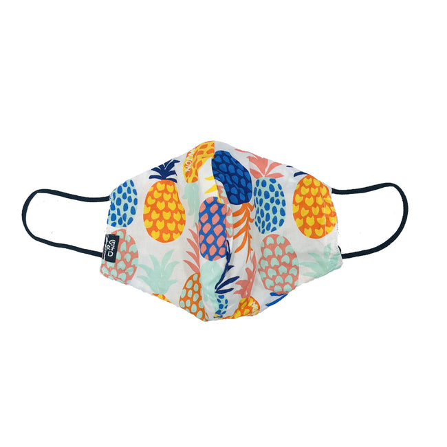 Pineapple White Snouted Mask with Adjustable String (Mesh layer)