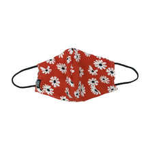 Load image into Gallery viewer, Flowers Red Snouted Mask with Adjustable String (Mesh layer)