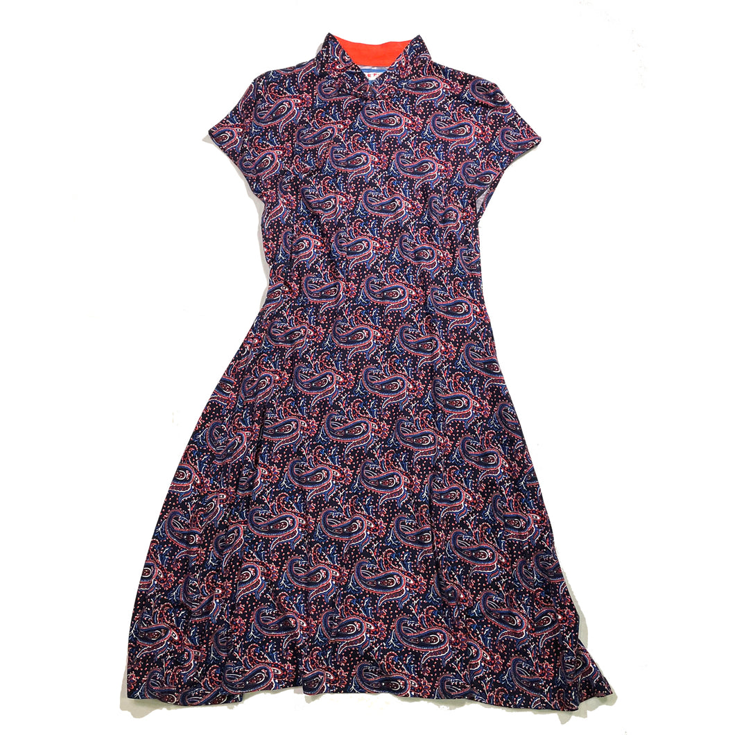 Printed Qipao dress, Paisley