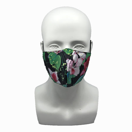 Dots Fuchsia Snouted Mask with Adjustable String (Mesh layer)