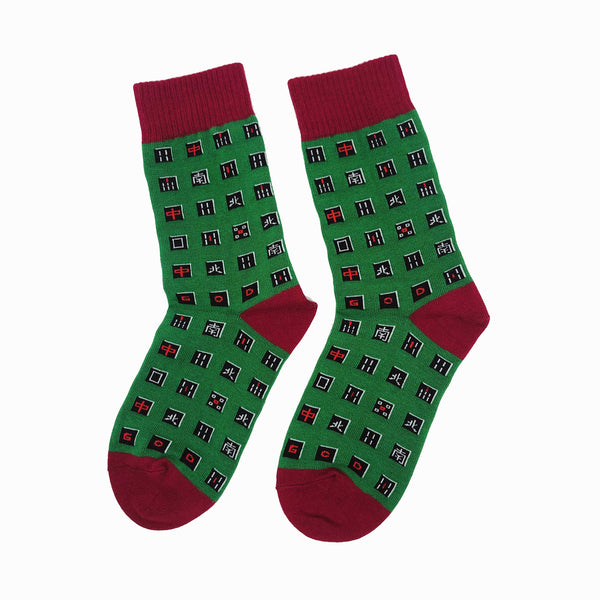 Playful Socks x G.O.D. Mahjong