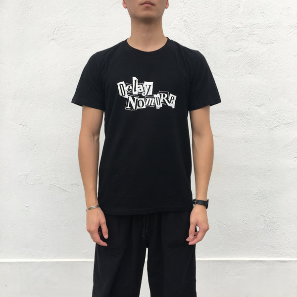 'Delay No More - Marker Sketch' T-shirt, Black