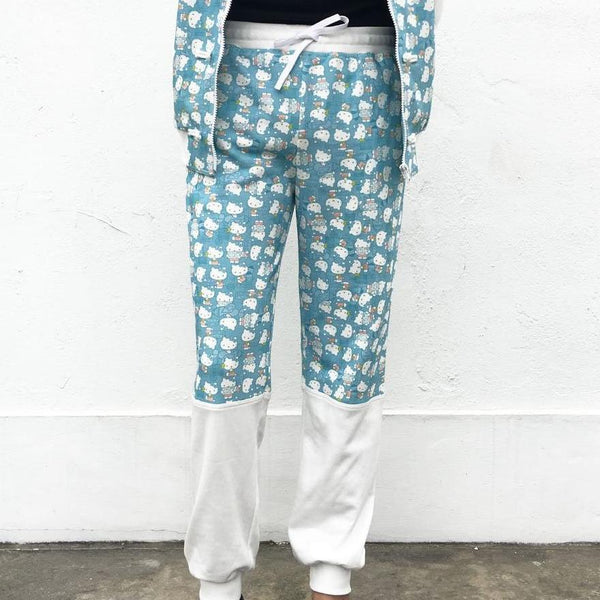 'Hello Kitty x G.O.D. Hong Kong Playtime' drawstring sweatpants (baby blue)