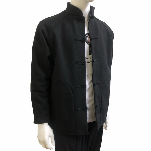 GOD Chines Button Jacket, Black