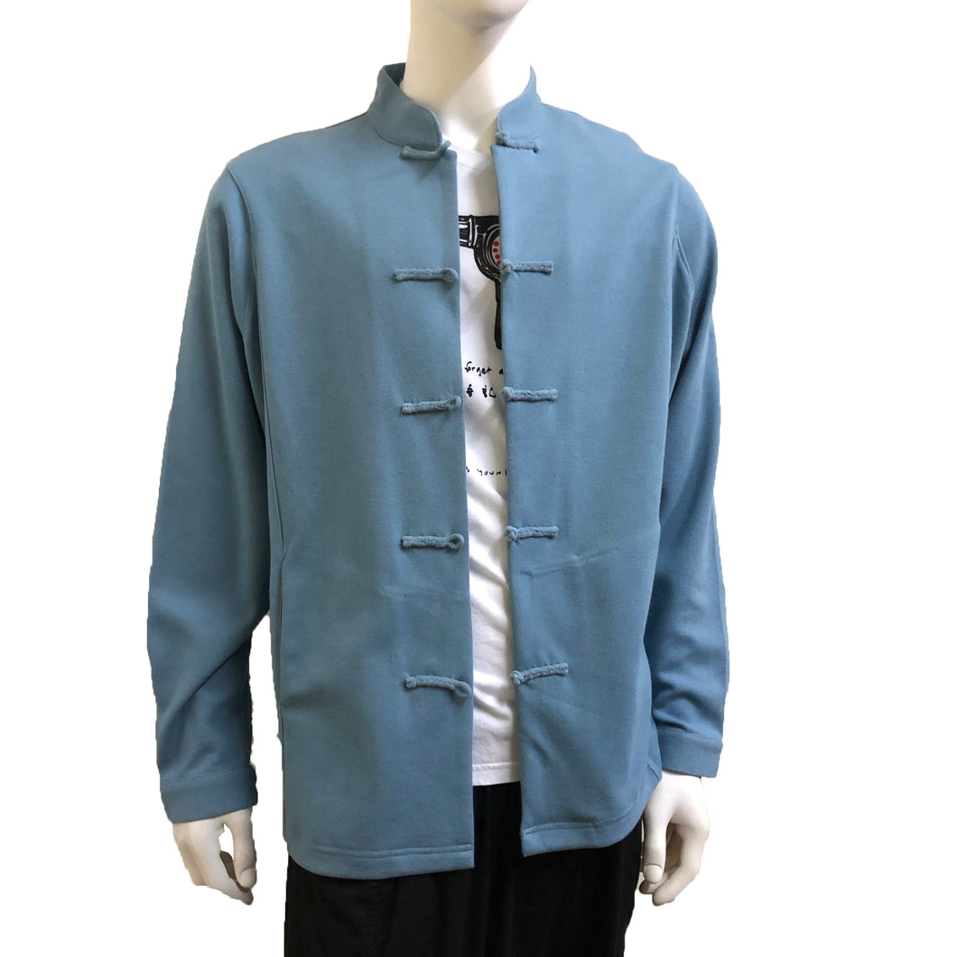 Knot Button Jacket, Carolina Blue