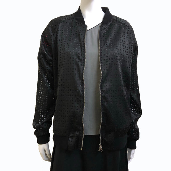 Double Coins Bomber Jacket, Black