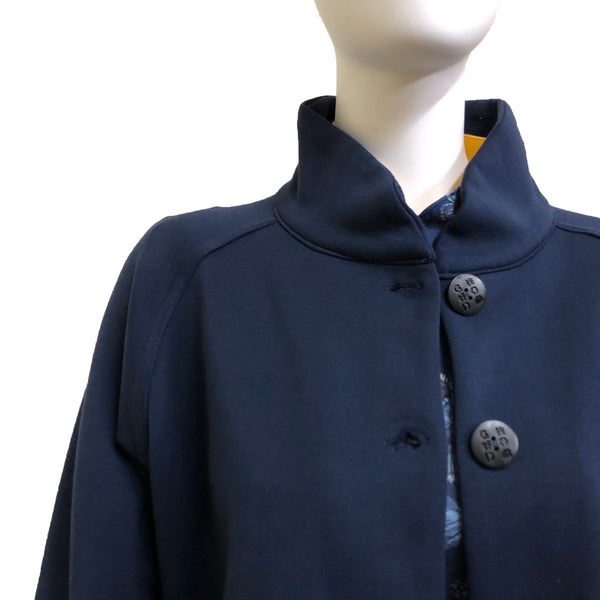 Chinese Collar Sung Jacket, Navy