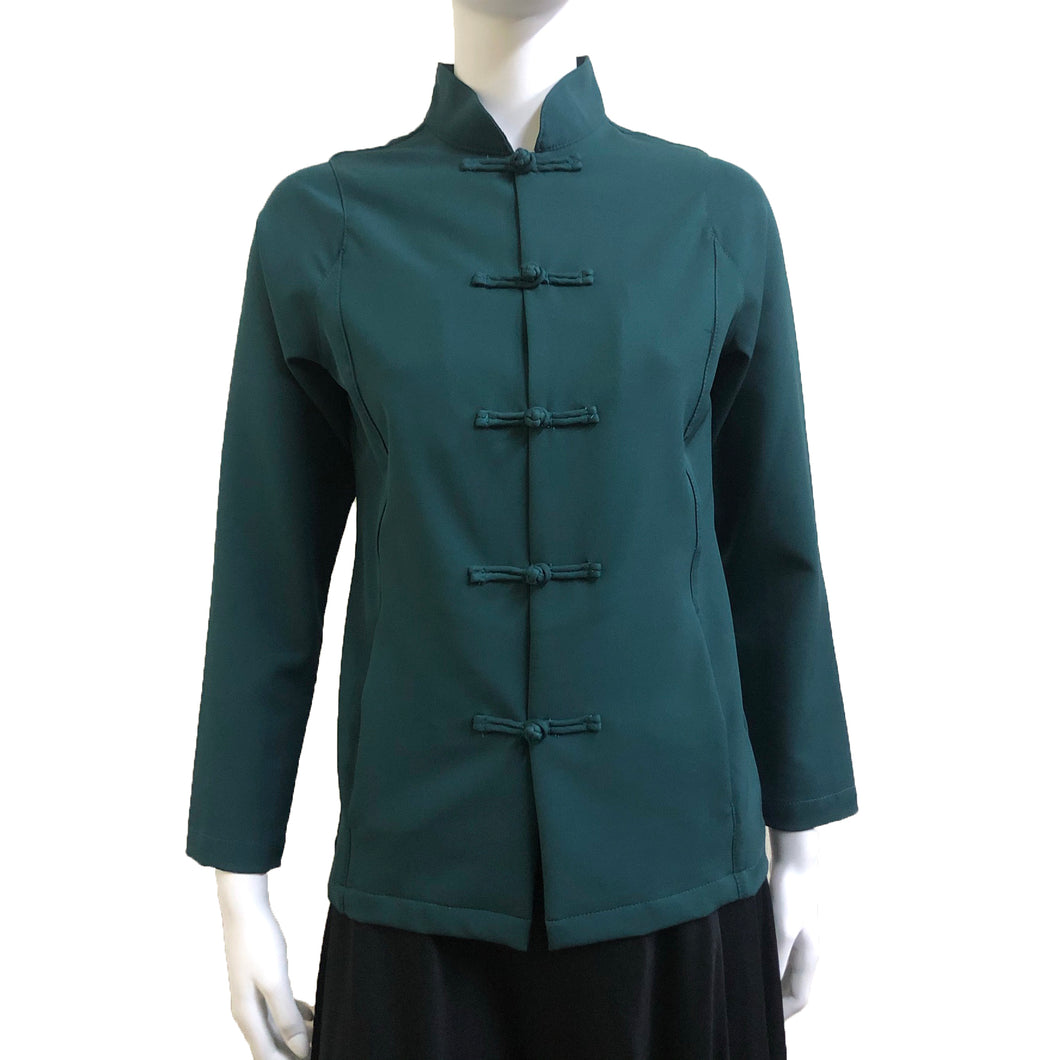 Knot Button Jacket, Dark Green