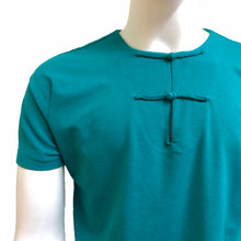 Load image into Gallery viewer, Handcrafted Buttons Top with Pocket, Turquoise