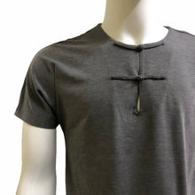 Load image into Gallery viewer, Lightweight Knot Button Pocket Henley, Charcoal Grey
