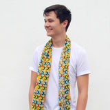 'Never Ending Wave' cotton scarf (sand)
