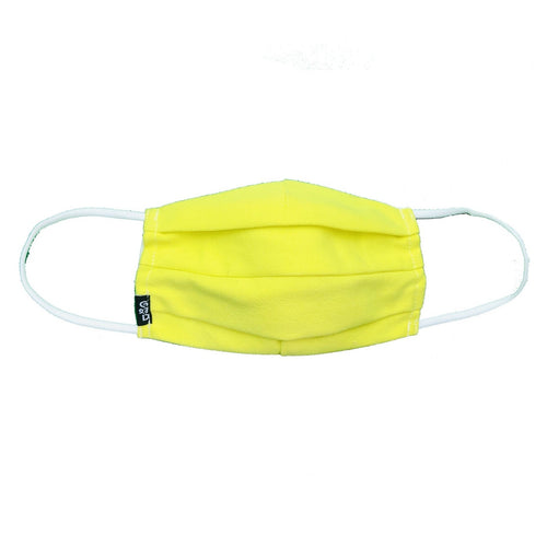 'Neon Yellow' Cloth Mask with Holder