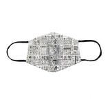Newspaper Cloth Snouted Mask with Holder