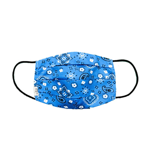 Bandana Blue Mask with Holder