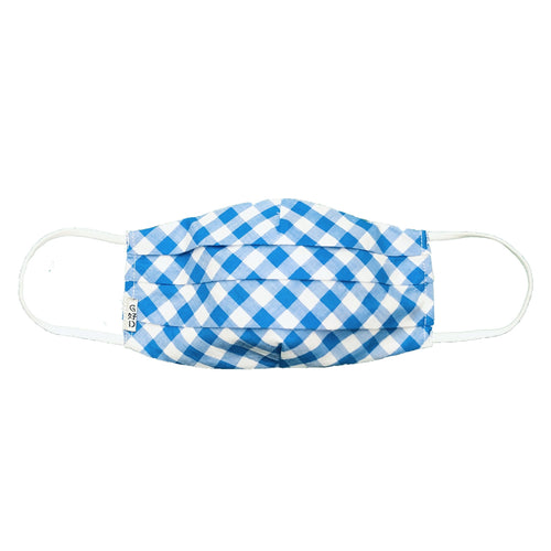 Checkers Blue Mask with Holder