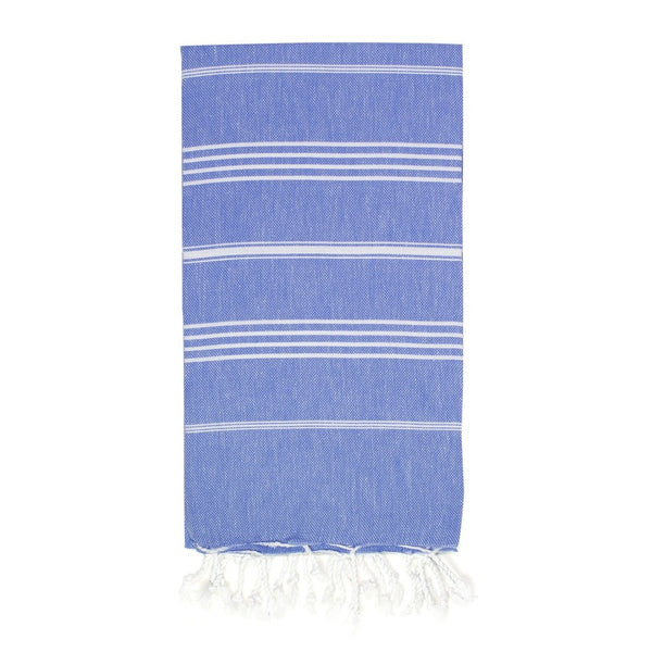 Classic Turkish Towel, Royal Blue