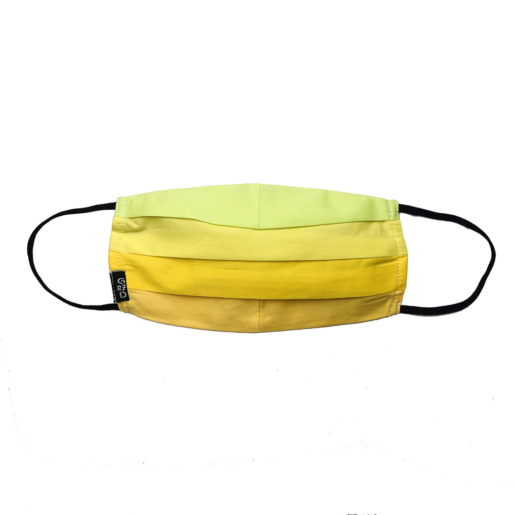 Combination Yellow Pleated Mask