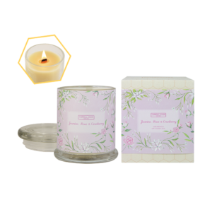 Jasmine, Rose & Cranberry Beeswax Jar Candle by Carroll&Chan