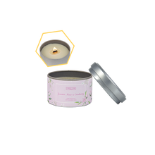Load image into Gallery viewer, Jasmine, Rose & Cranberry Beeswax Tin Candle by Carroll&Chan
