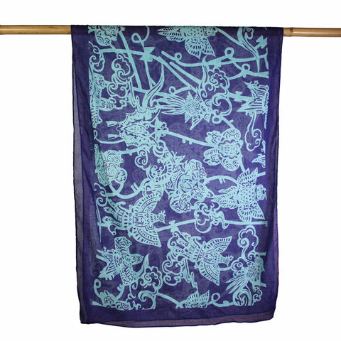 'Kites' cotton scarf