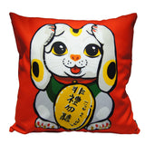 'Lucky Cat - I Hear No Evil' cushion cover, Homeware, Goods of Desire, Goods of Desire
