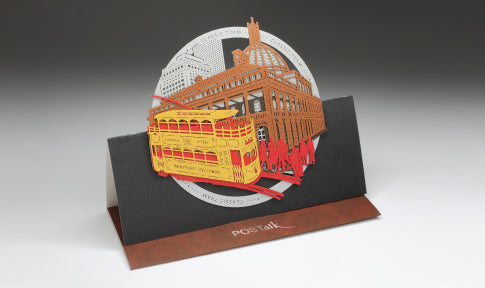 POSTalk large pop-up card, Classic Tram (Old Legislative Building)