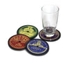 'RECORD LABELS' coaster set of 4