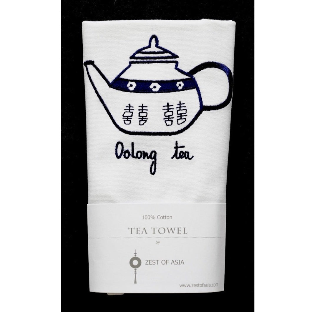 Blue Teapot Tea Towel by Zest of Asia