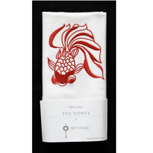 Load image into Gallery viewer, Red Goldfish Tea Towel by Zest of Asia