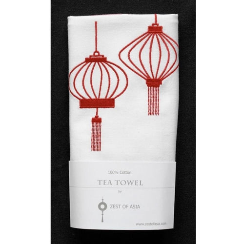 Red Lanterns Tea Towel by Zest of Asia