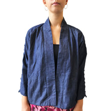 Load image into Gallery viewer, Kimono with Chinese zip details, Denim Blue
