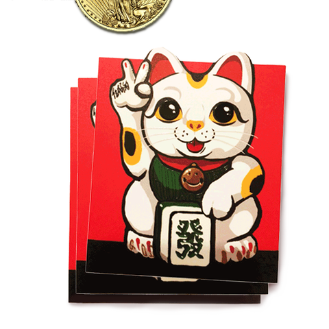 'Lucky Cat' lai see packets (set of 10)