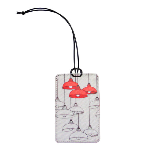 'Red Lamps' luggage tag