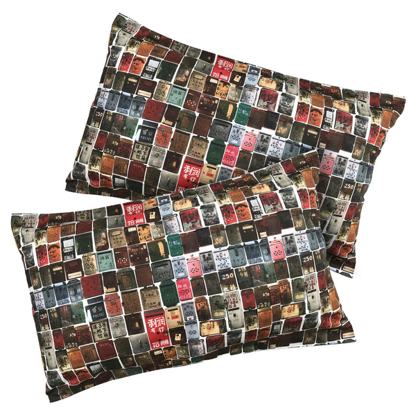 'Letterbox' Pillow Cases, Set of 2
