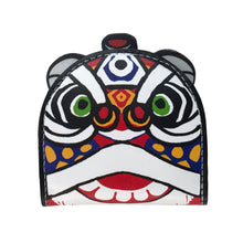Load image into Gallery viewer, 'Lion Dance' leather coin purse