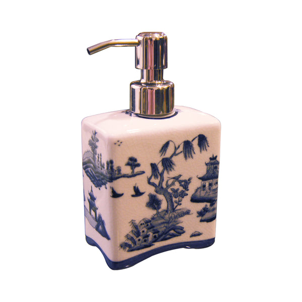 'Chinese Garden' Hand Painted Soap Dispenser