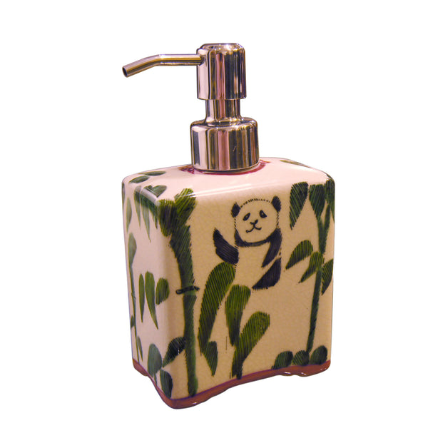 'Panda Bamboo' Hand Painted Soap Dispenser